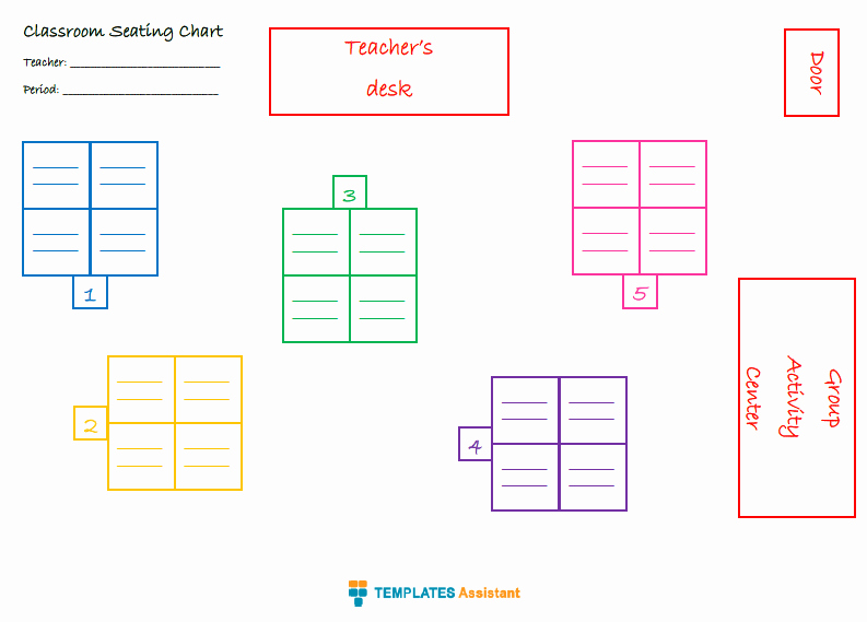 Seating Chart for Classroom Elegant 5 Seating Chart Templates