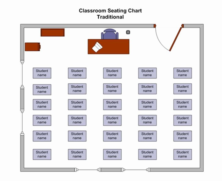 Seating Chart for Classroom Fresh Classroom Seating Chart