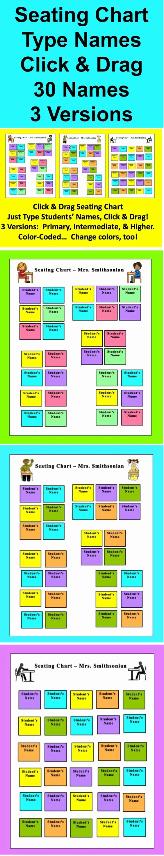 Seating Chart for Classroom Inspirational Back to Back to School and Student On Pinterest