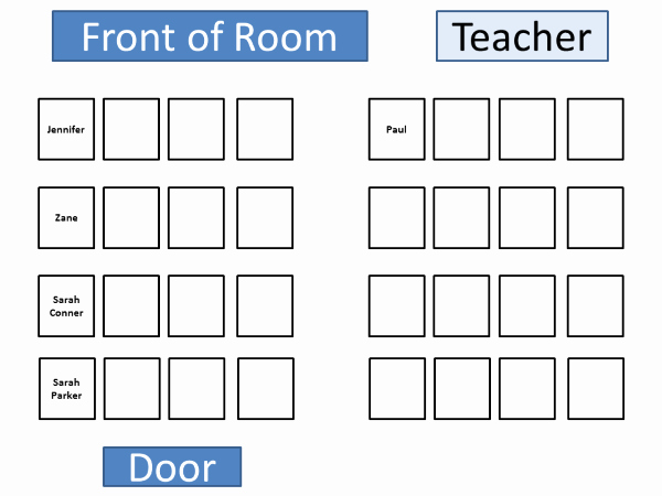 Seating Chart for Classroom Inspirational Classroom Seating Chart Template