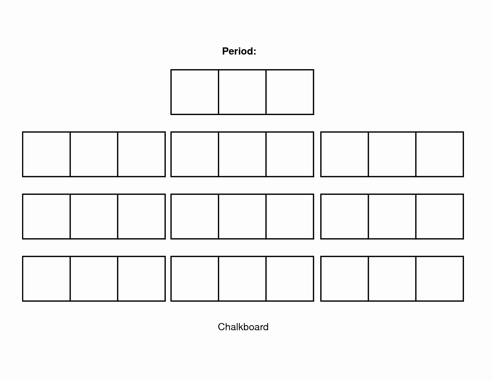 Seating Chart for Classroom Lovely Classroom Seating Chart Template