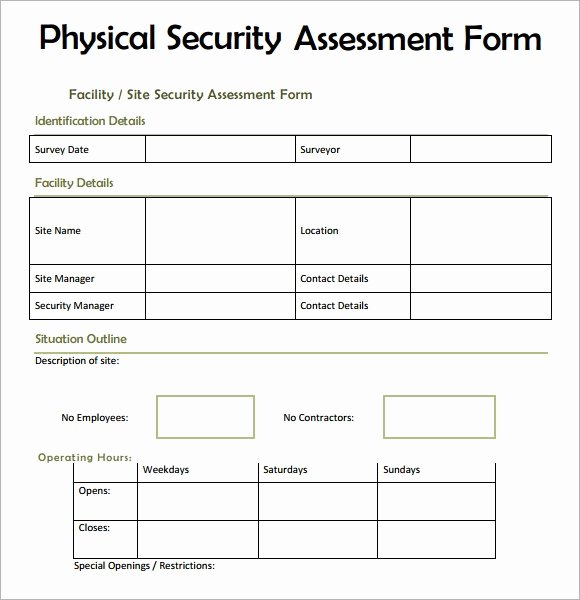 Security assessment Report Template Fresh 7 Security assessment Samples Examples Templates Pdf