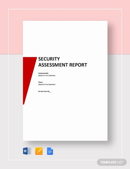 Security assessment Report Template Fresh Free Security Incident Report Template Download 542