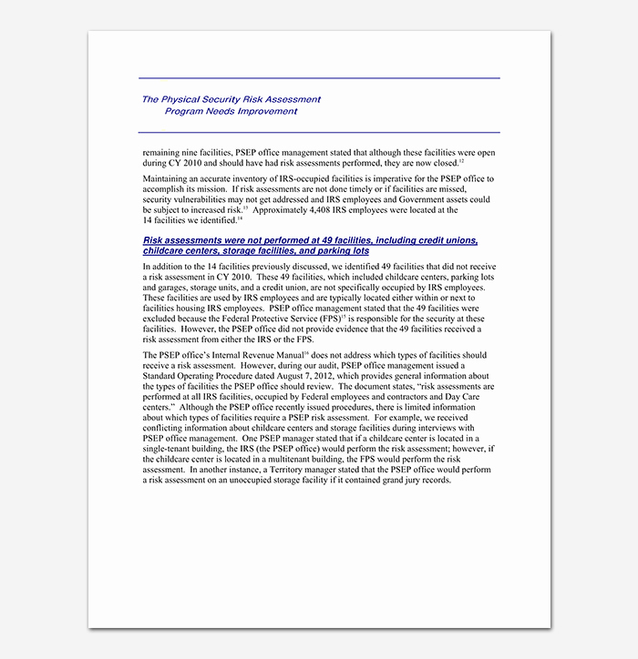 Security assessment Report Template Lovely Security assessment Template 18 Word Excel & Pdf format