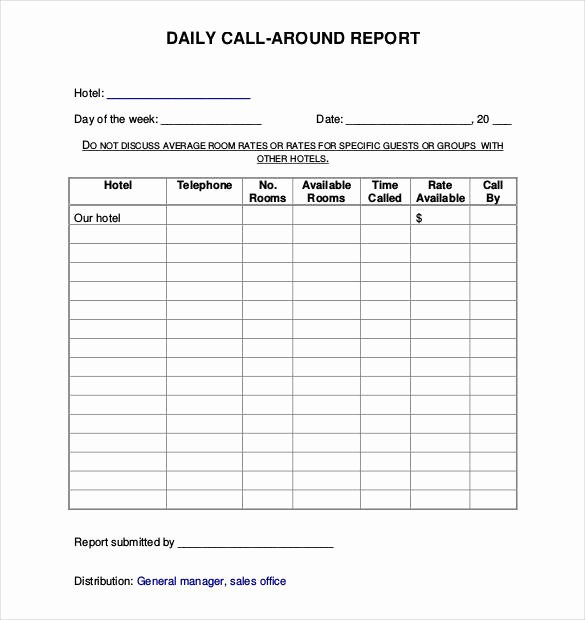 Security Daily Activity Report Template Awesome 64 Daily Report Templates Word Pdf Excel Google Docs