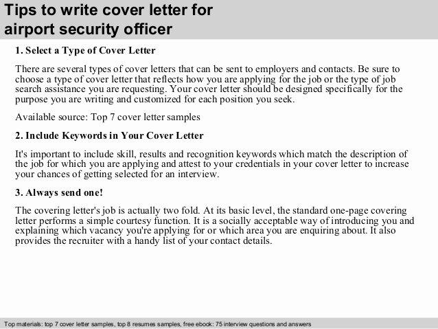 Security Officer Cover Letter Sample Fresh Airport Security Officer Cover Letter