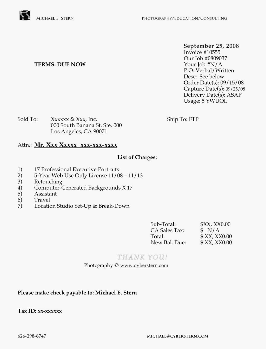 Self Employed Letter Template Best Of 12 Example Of Invoice for Self Employed