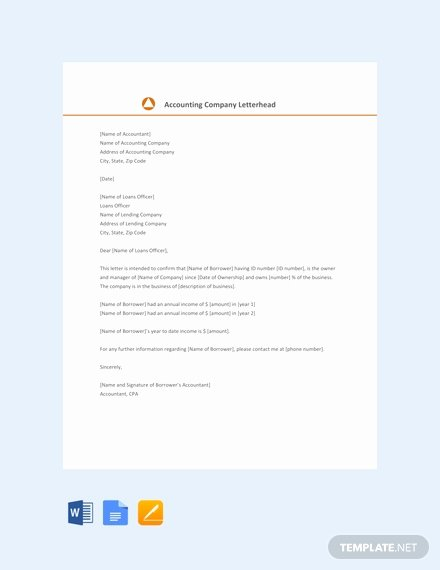 Self Employed Letter Template Inspirational Free Proof Of In E Letter for Self Employed Template