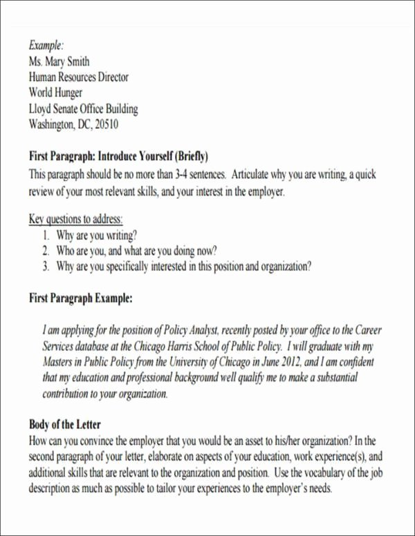 Self Introduction Letter Sample Fresh 5 Employment Introduction Letter Samples and Templates
