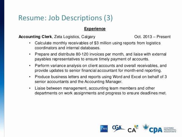 Senior Accounts Manager Job Description Beautiful Resume & Cover Letter Presentation