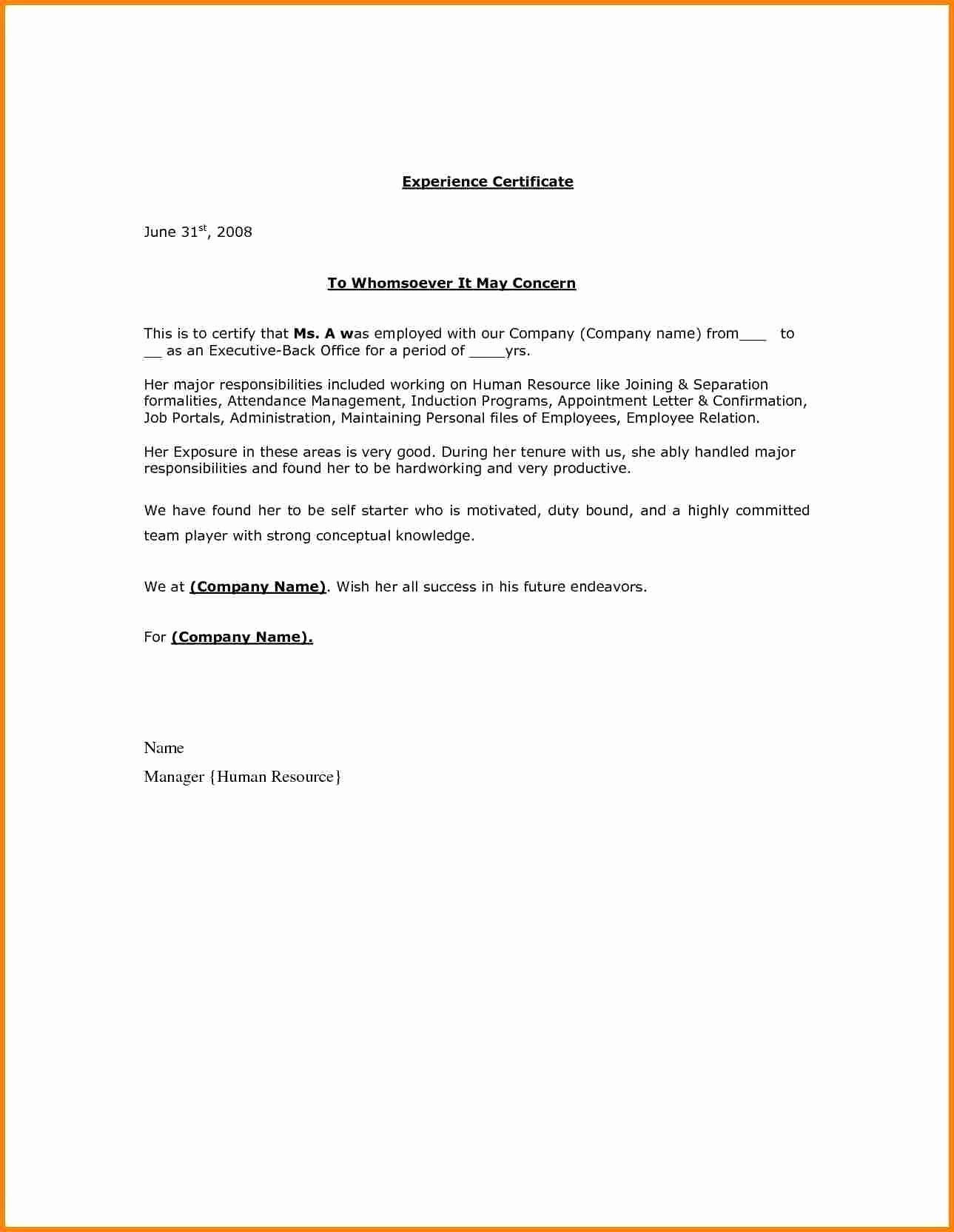 Separation Letter to Employee Elegant Letter Separation From Employer Template Samples