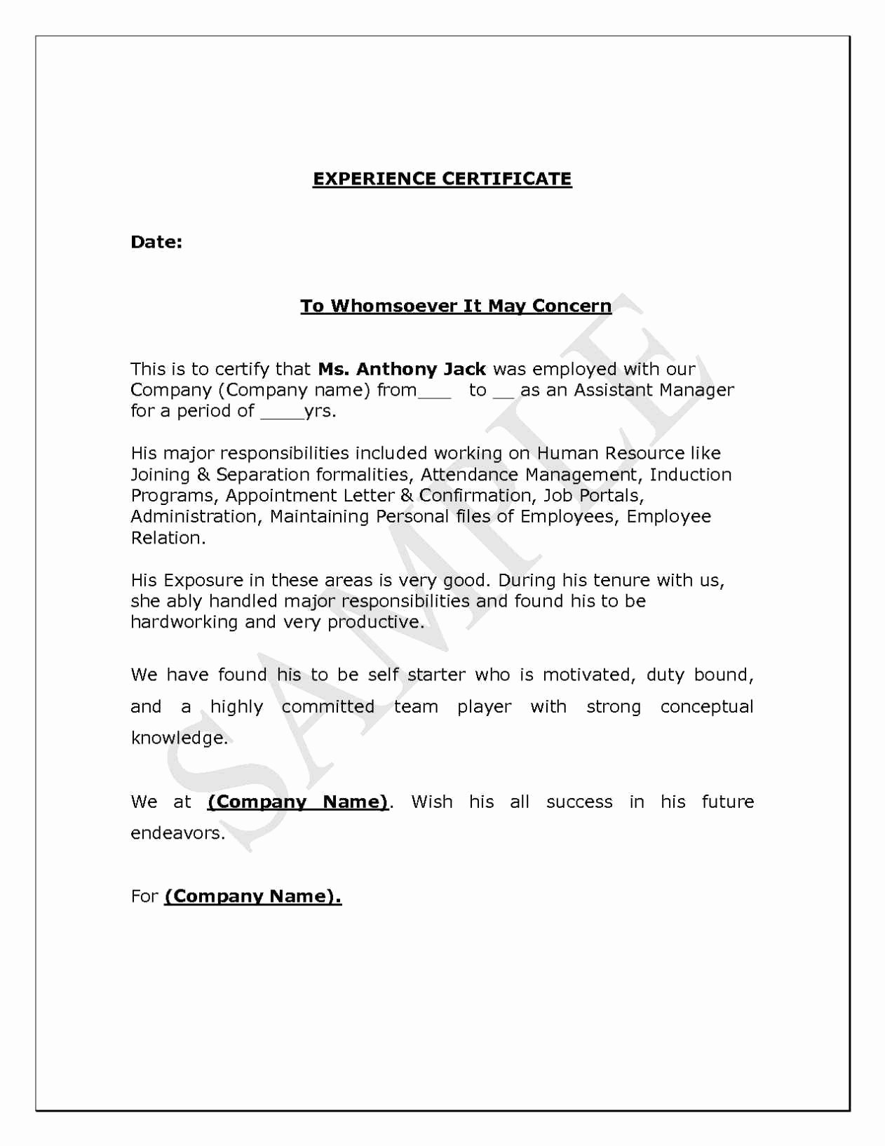 Separation Letter to Employee Fresh Letter Separation From Employer Template Samples