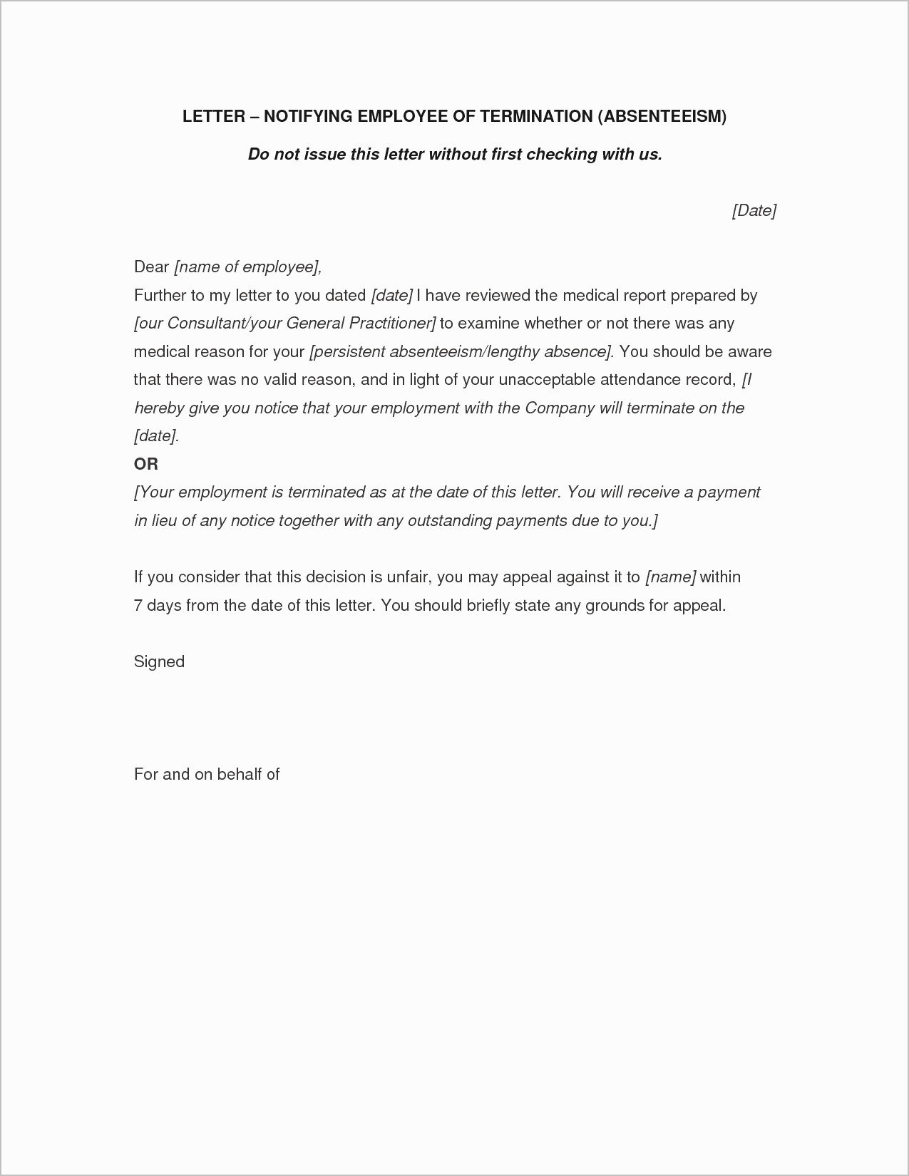 Separation Letter to Employee Lovely Letter Separation From Employer Template Samples