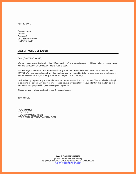 Separation Letter to Employee Unique 10 Employment Separation Notice
