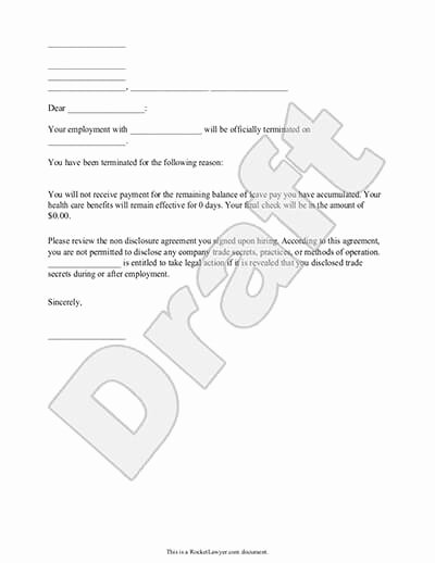 Separation Letter to Employee Unique Letter Separation From Employer Template