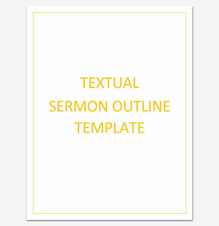 Sermon Template Microsoft Word Elegant Sermon Outline Template 12 for Word and Pdf format