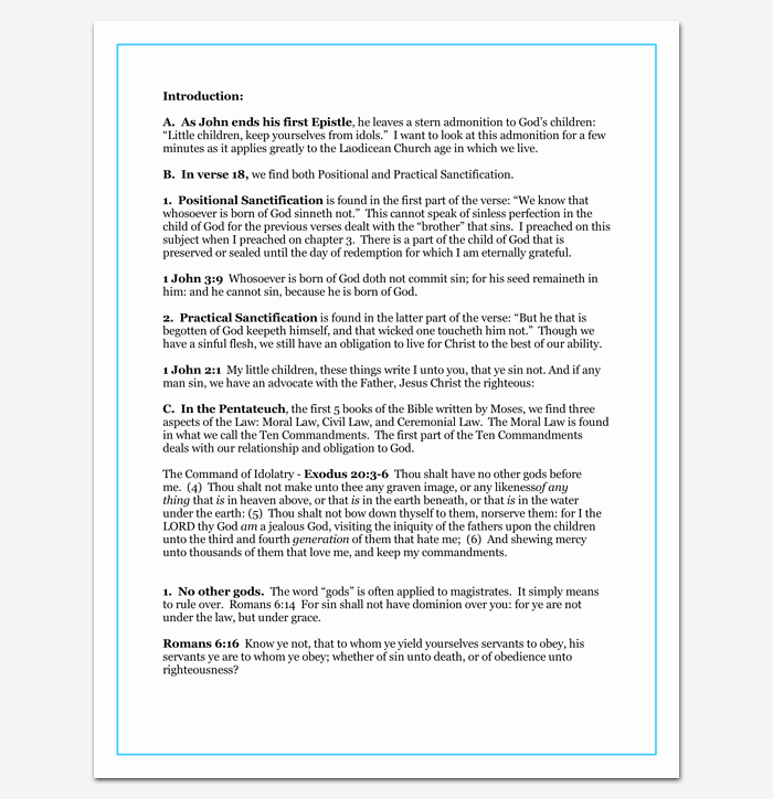 Sermon Template Microsoft Word Luxury Sermon Outline Template 12 for Word and Pdf format
