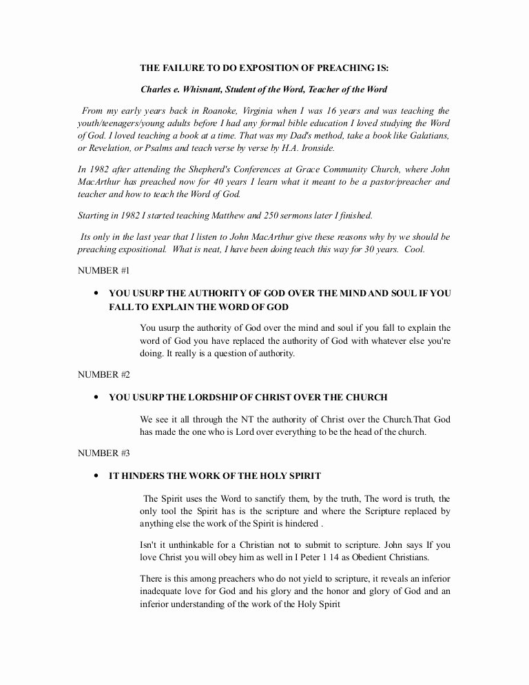 Sermon Template Microsoft Word New Expositional Preaching 19 Outline