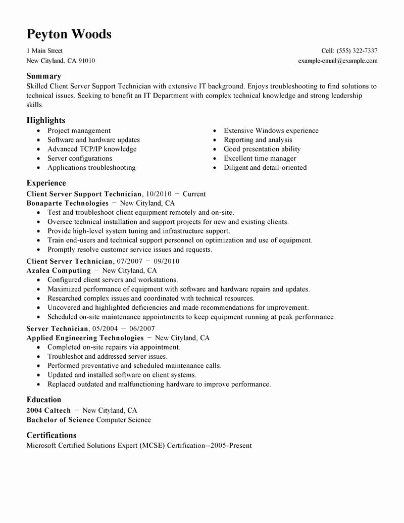 Server Cover Letter Examples Best Of Waiter Resume Sample Cover Letter Housekeeping and