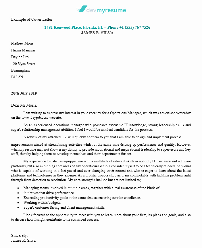 Server Cover Letter Examples Lovely Cover Letter Writing Service Of High Quality