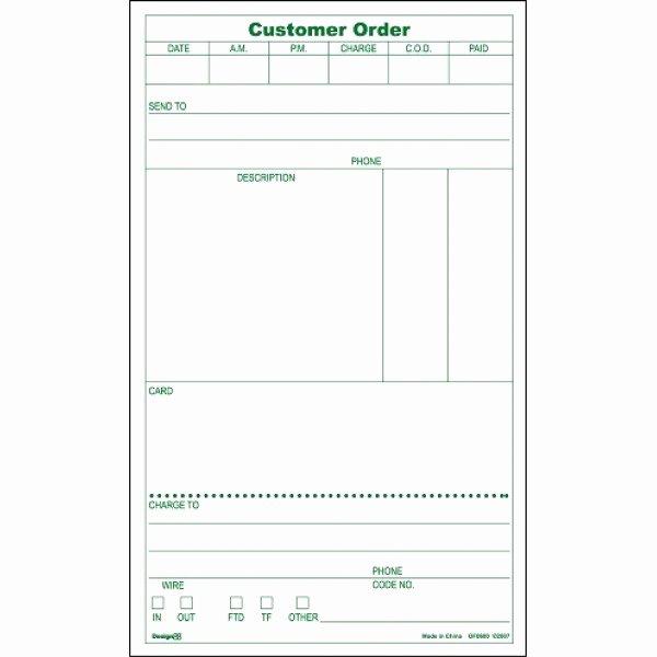 Server order Pad Template Inspirational No 2 order Pad