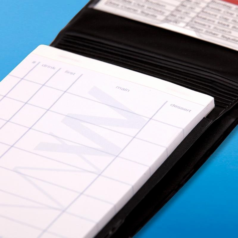 Server order Pad Template New Waiter Wallet Pads