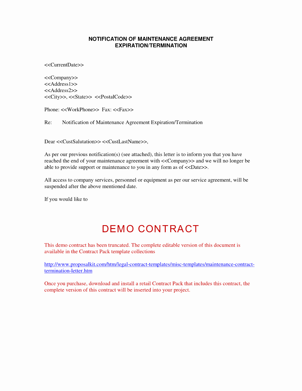 Service Agreement Termination Letter Beautiful Contract Termination Letter Free Printable Documents