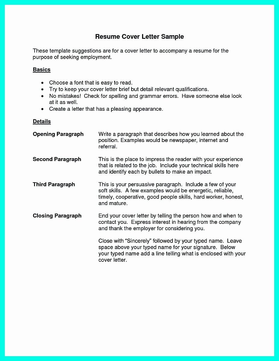 Serving Cover Letter Example Elegant Cocktail Server Resume Skills to Convince Restaurants or Café