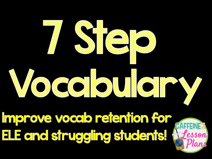 Seven Step Lesson Plan Fresh Caffeine and Lesson Plans 7 Step Vocabulary
