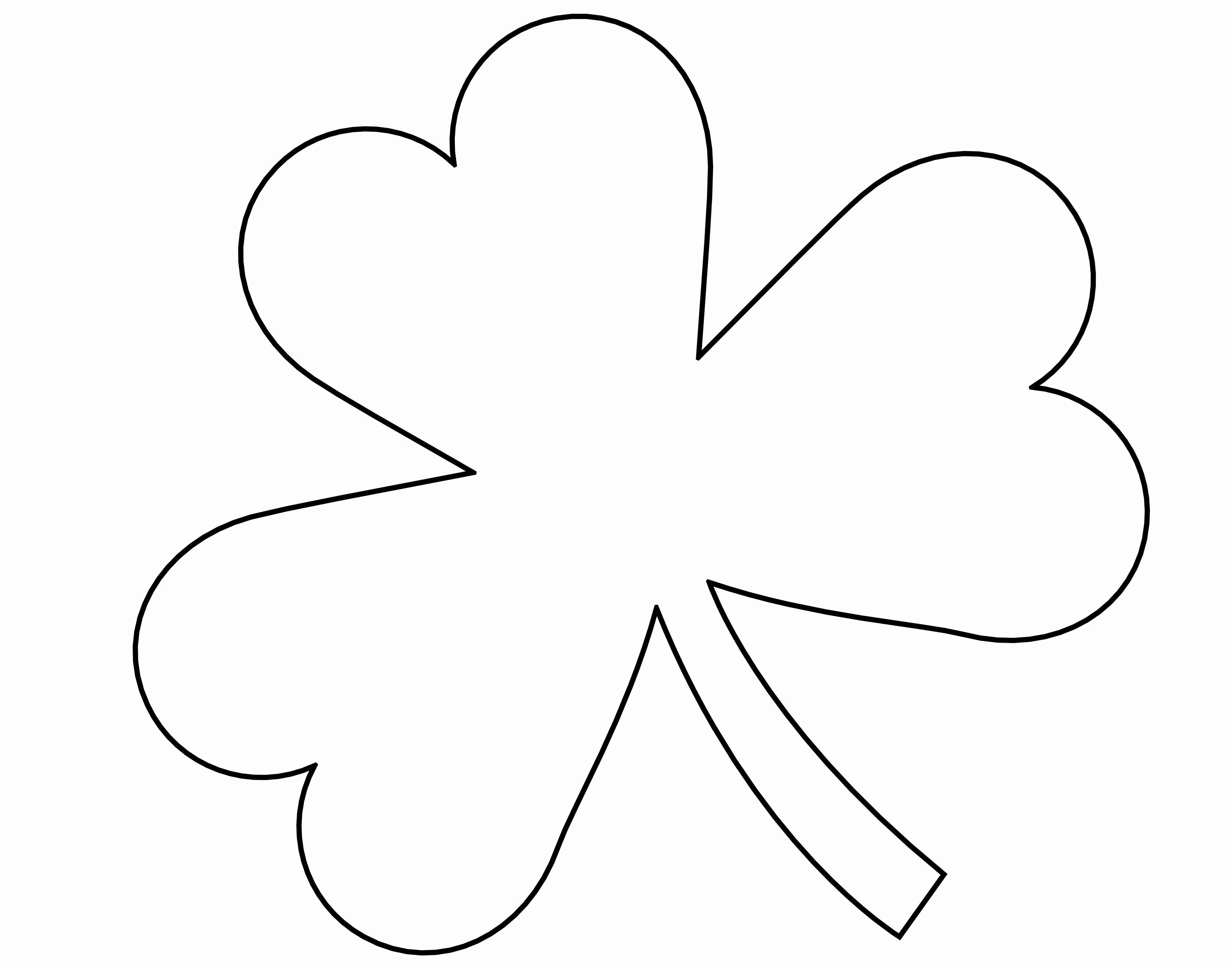 Shamrock Pictures to Print Awesome 5 Best Of Four Leaf Shamrock Template Printable