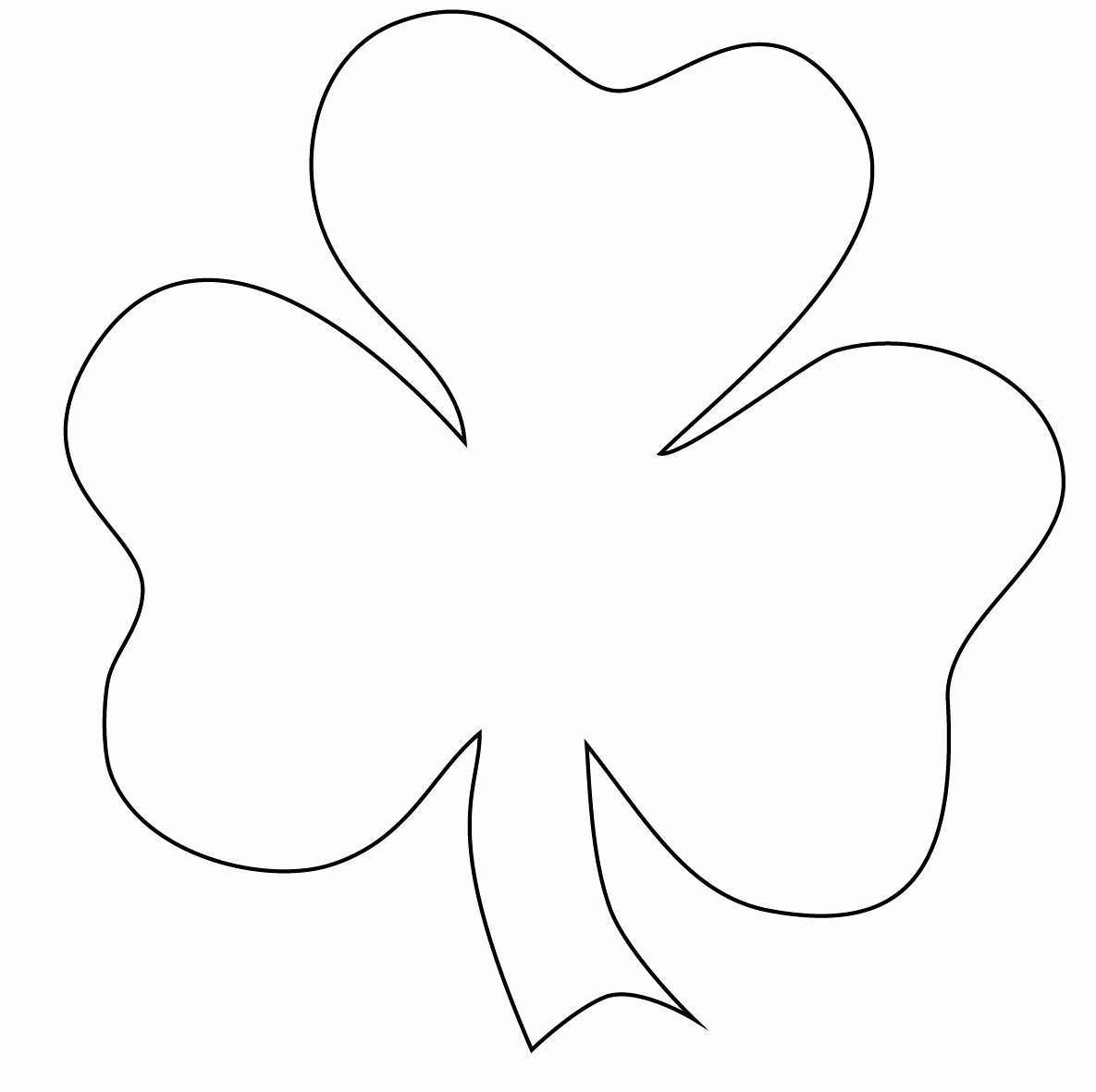 Shamrock Pictures to Print Beautiful Free Printable Shamrock Coloring Pages for Kids