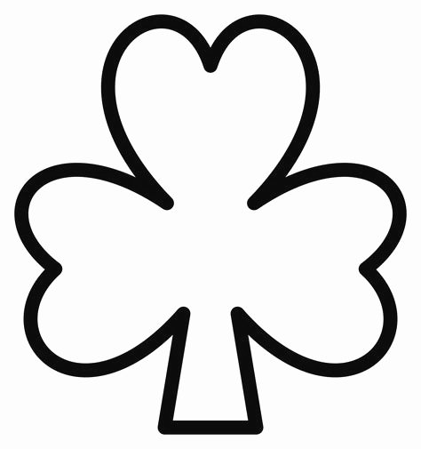 Shamrock Pictures to Print Best Of Free Printable Shamrock Coloring Pages for Kids