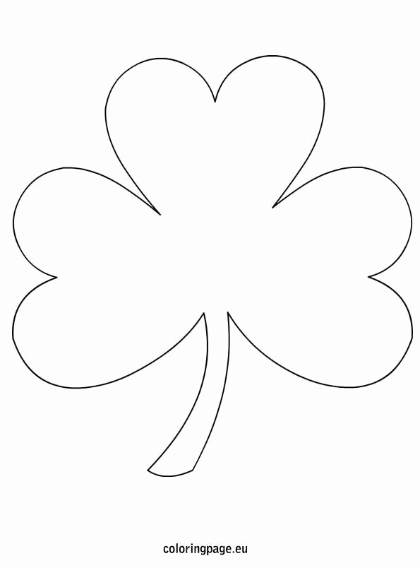 Shamrock Pictures to Print Best Of Shamrock Coloring Page Free From Coloringpage Lots Of
