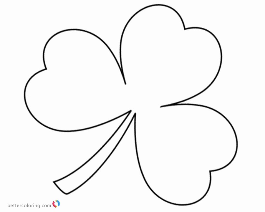 Shamrock Pictures to Print Best Of St Patrick Day Shamrock Coloring Pages Free Printable