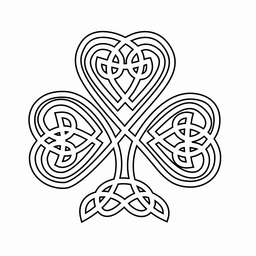 Shamrock Pictures to Print Elegant Free Printable Shamrock Coloring Pages for Kids