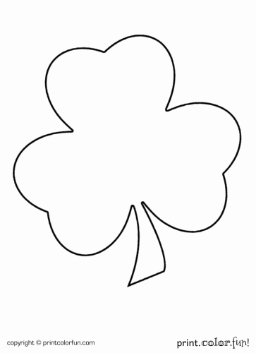 Shamrock Pictures to Print Elegant Shamrock for St Patrick S Day Coloring Page Print Color