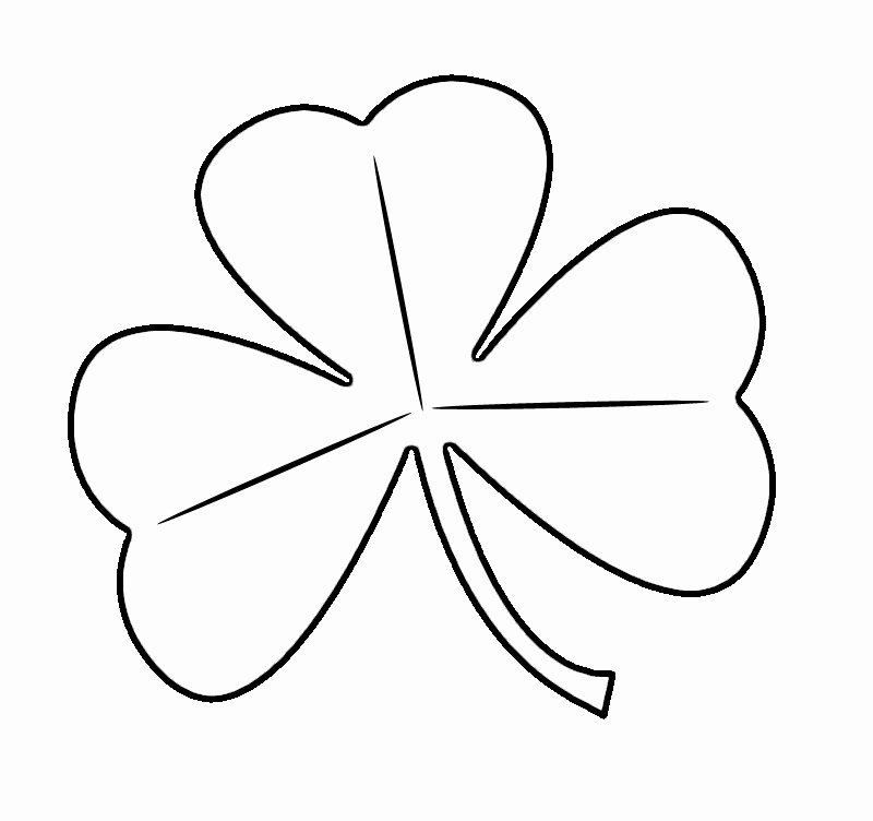 Shamrock Pictures to Print Inspirational Free Printable Shamrock Coloring Pages for Kids