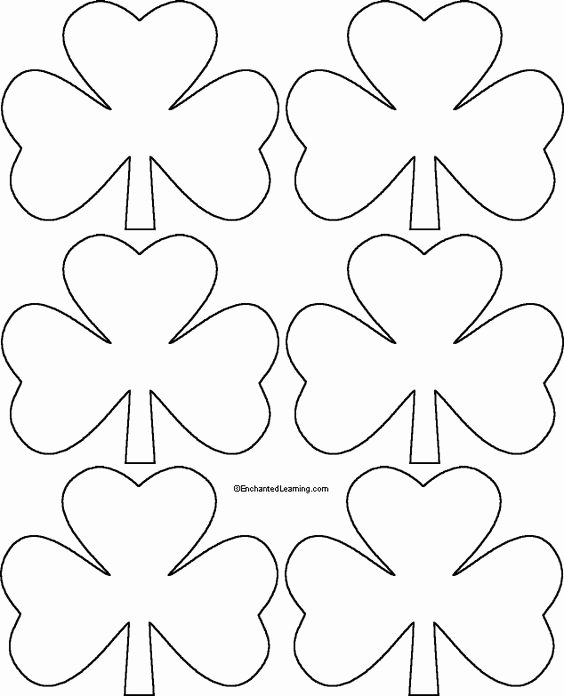 "Shamrock Pictures to Print Inspirational Shamrock Template Right Click Image and ""save to"