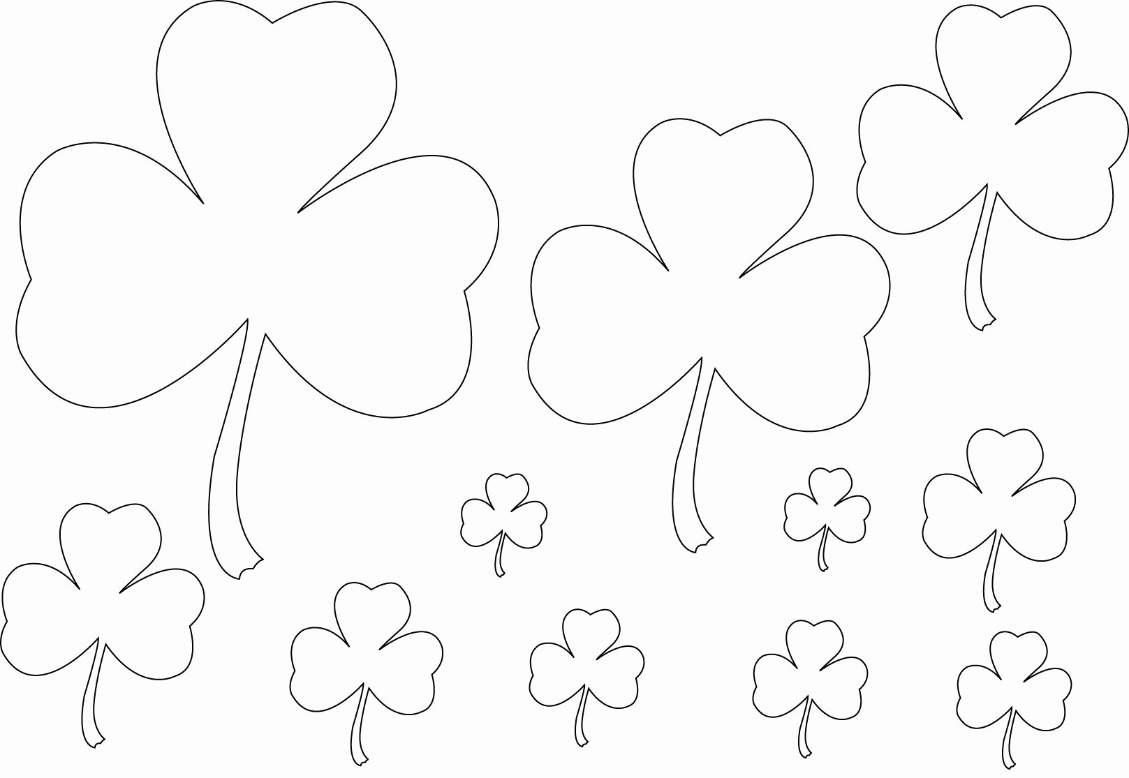 Shamrock Pictures to Print Lovely Free Printable Shamrock Coloring Pages for Kids