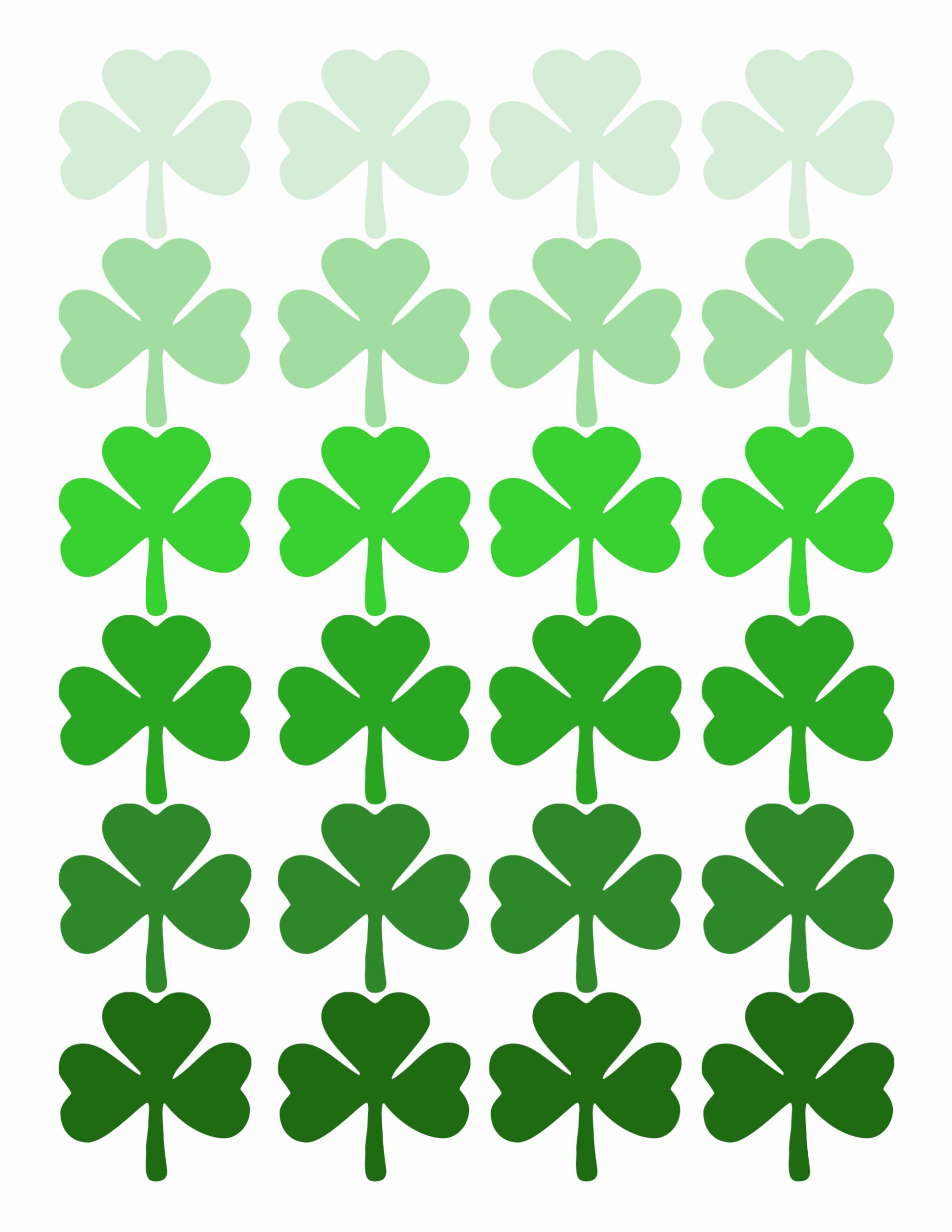 Shamrock Pictures to Print Luxury Shamrock Pattern Printable St Patrick S Day Decor Paper
