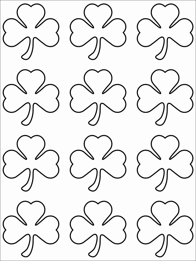 Shamrock Pictures to Print Unique 20 Best Shamrock Templates