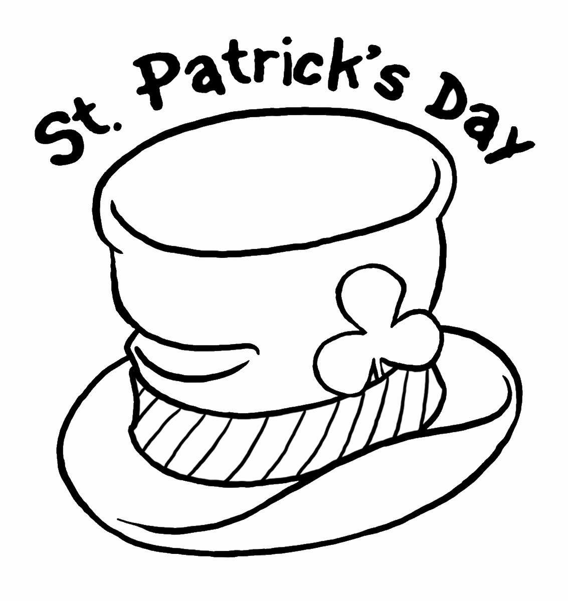 Shamrock Pictures to Print Unique St Patricks Day Coloring Pages Best Coloring Pages for Kids