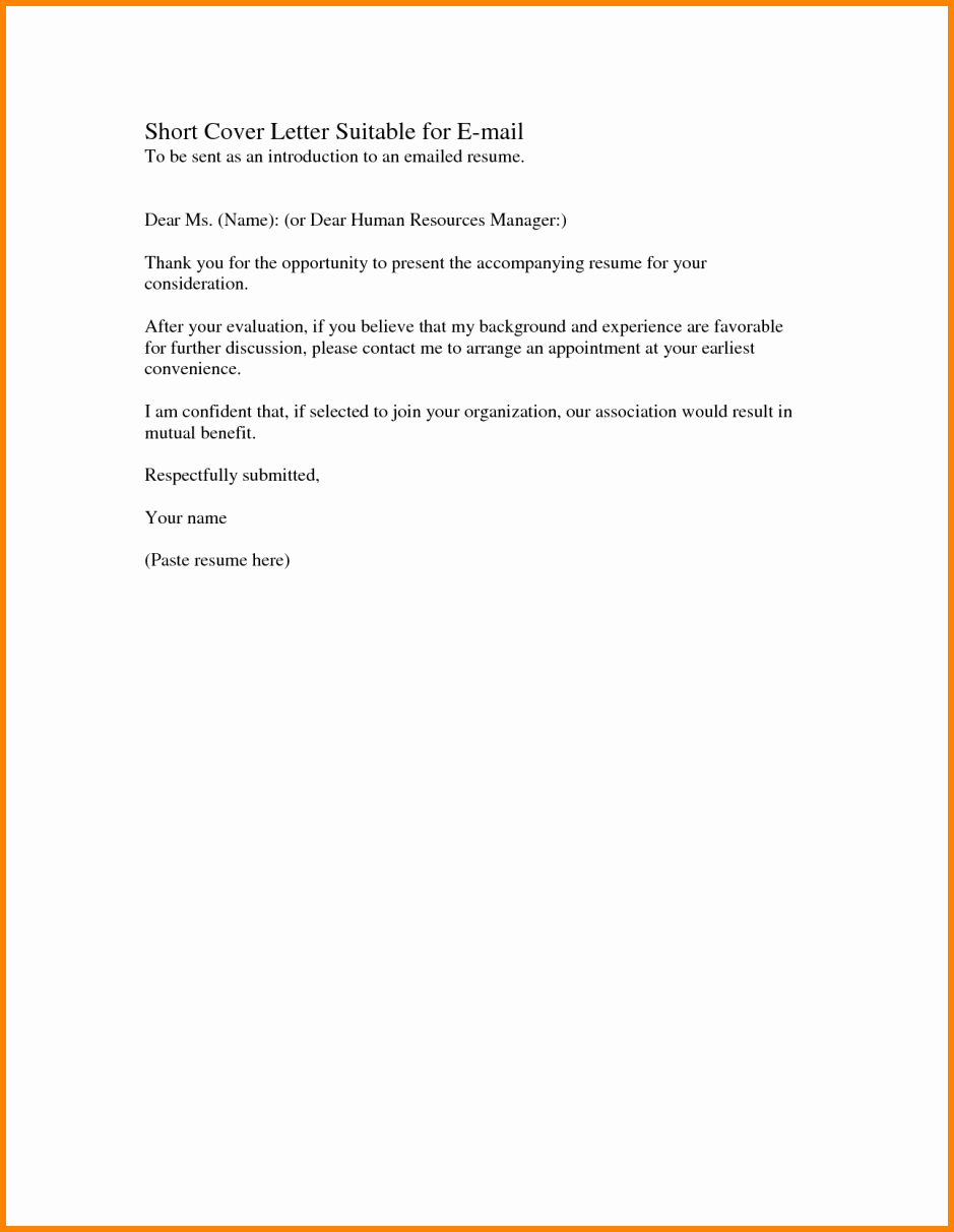 Short Application Cover Letter Fresh 11 Example Of A Short Letter