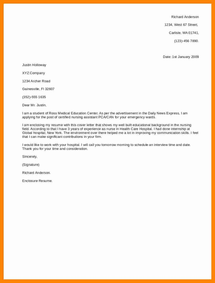 Short Application Cover Letter New 9 Short Cover Letter for Job Application