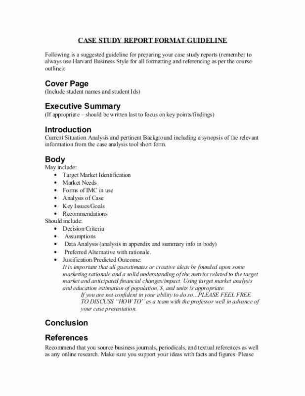 Short Case Study Examples Best Of Case Study format Template
