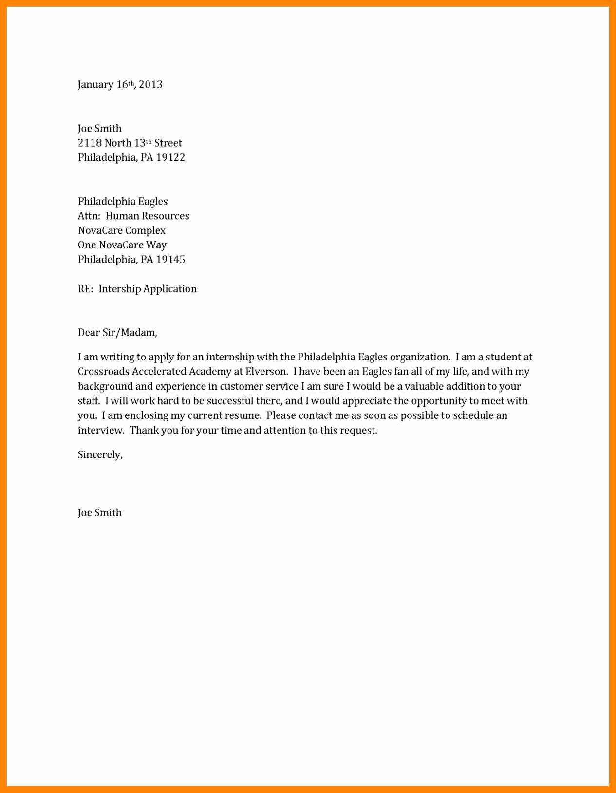 Short Cover Letter Example Best Of 6 Short Cover Letter Sample