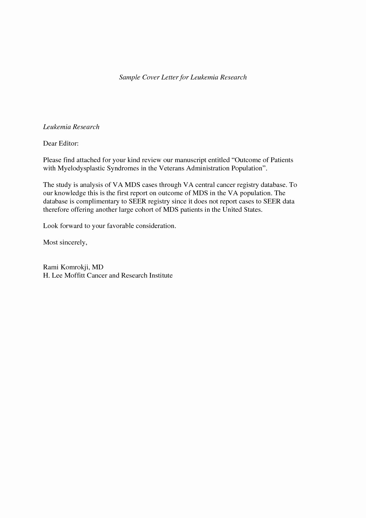 Short Cover Letter Example Elegant Short Cover Letter Examples