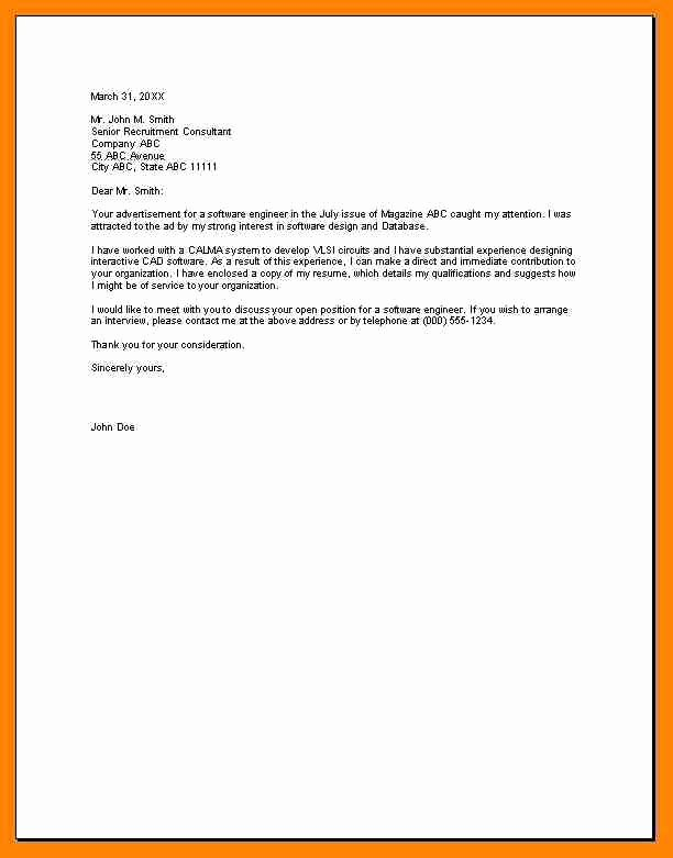 Short Cover Letter Example Fresh 7 Short Cover Letters Examples