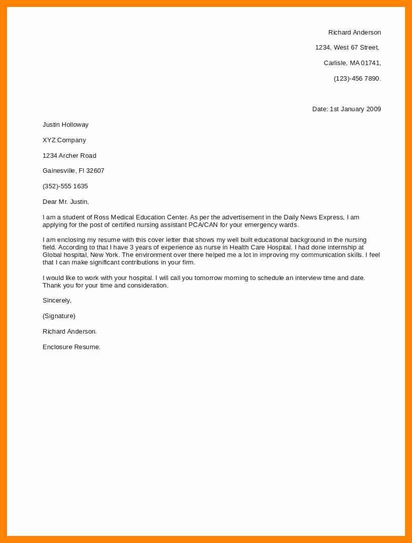 Short Cover Letter Example Inspirational 9 Short Cover Letter for Job Application