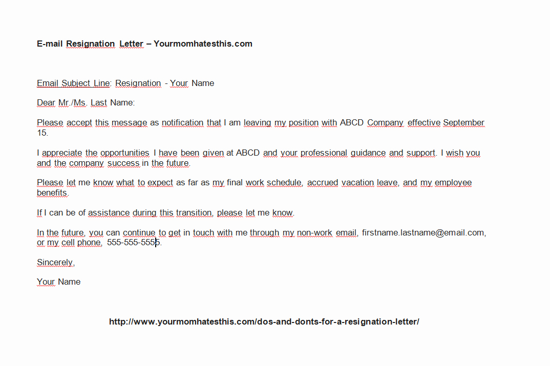 Short Notice Resignation Letter Inspirational Download Resignation Letter Pdf & Doc